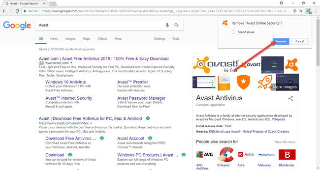 How To Remove or Uninstall Avast Online Security Plugin [Chrome