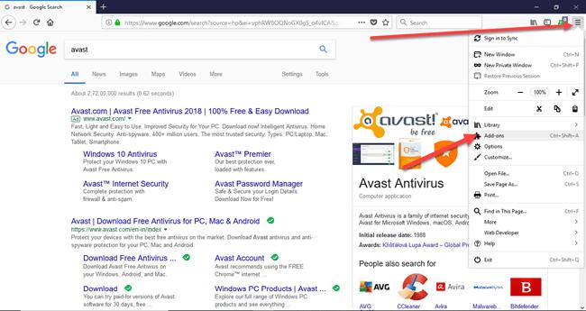 Firefox Addon Removal