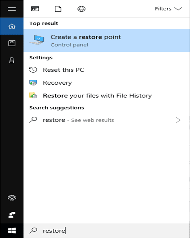 how to reset windows 10 system restore