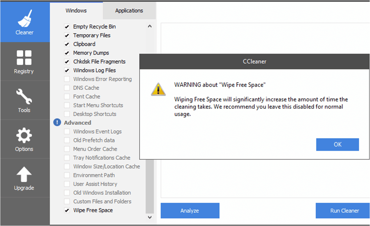 Ccleaner Wiping Hard Disk