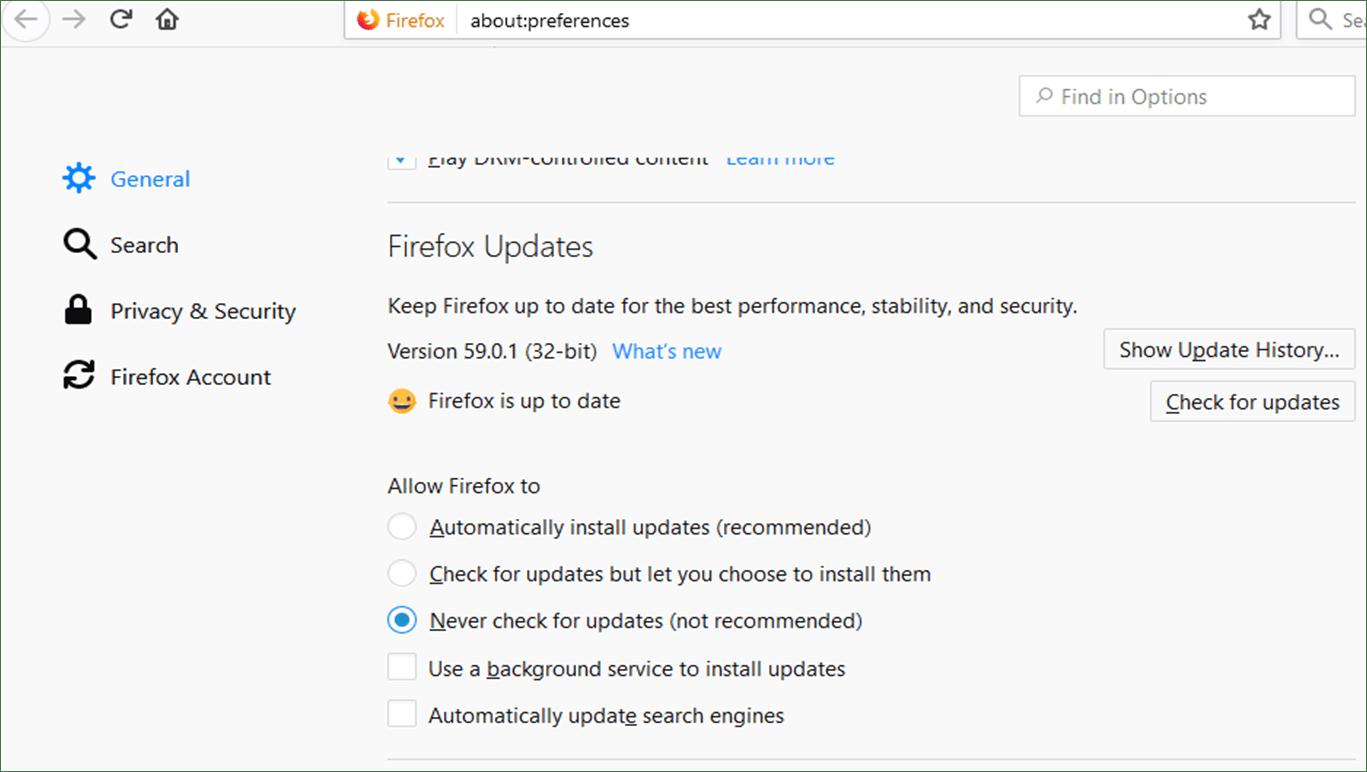 Firefox Updates