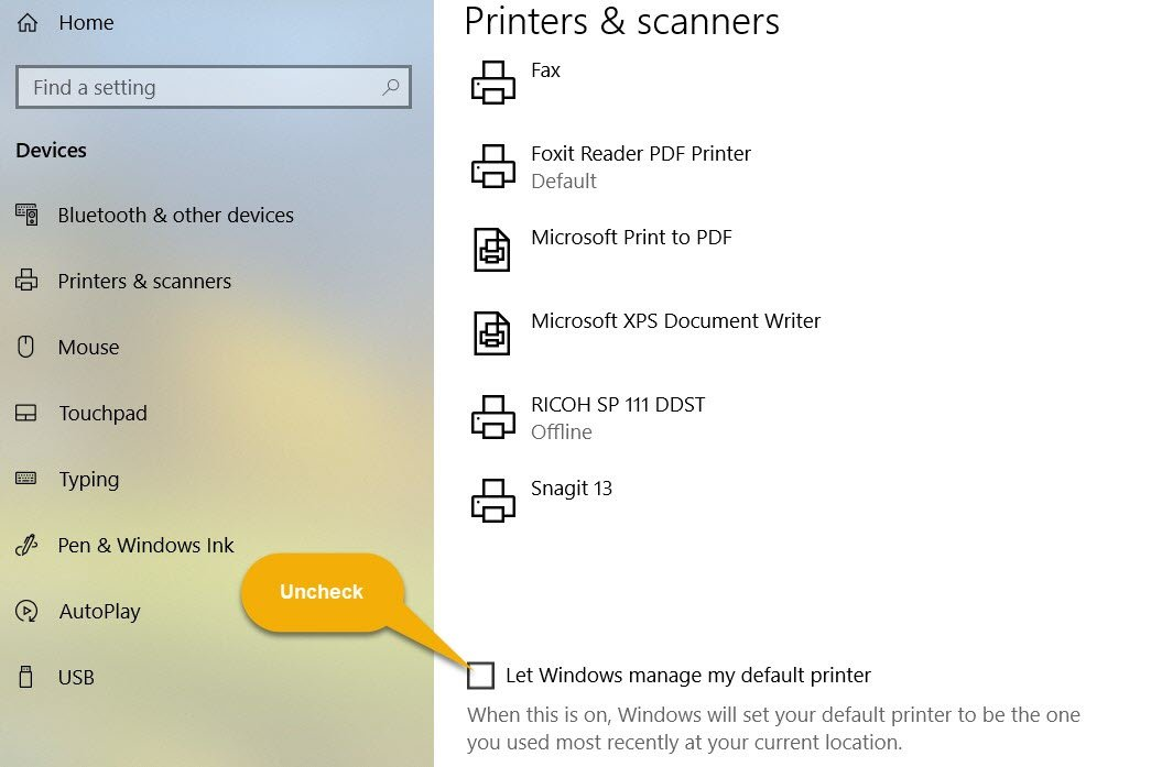 1 Printer and Scanner Settings
