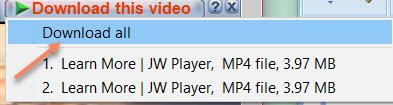 Jw player Download Using IDM