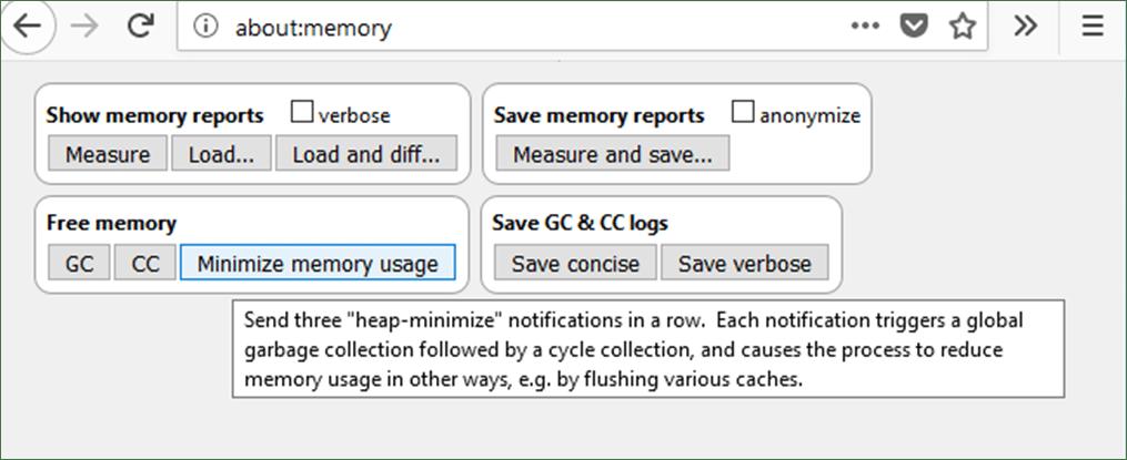 Firefox Memory Report