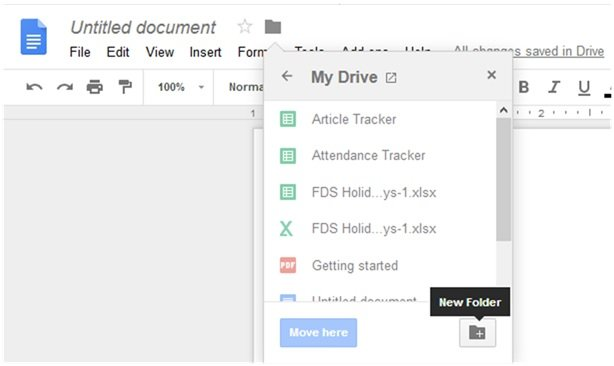 Create New Folder In Docs