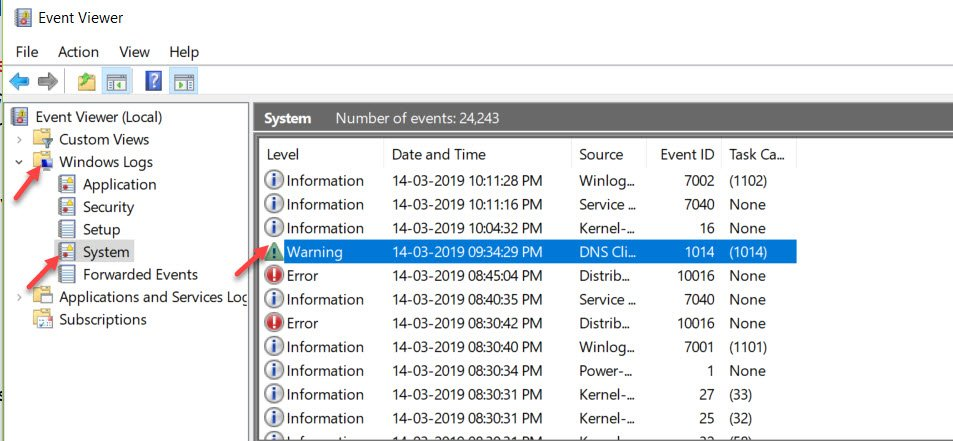 Event Viewer Main