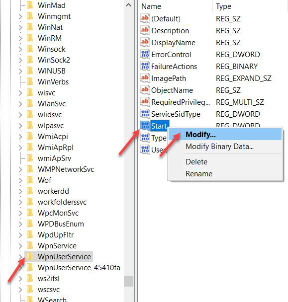 Modify Registry
