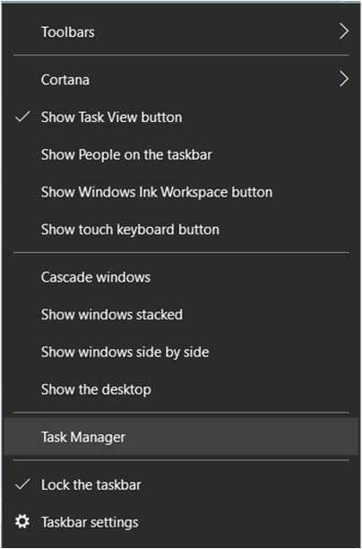 Open Task Manager