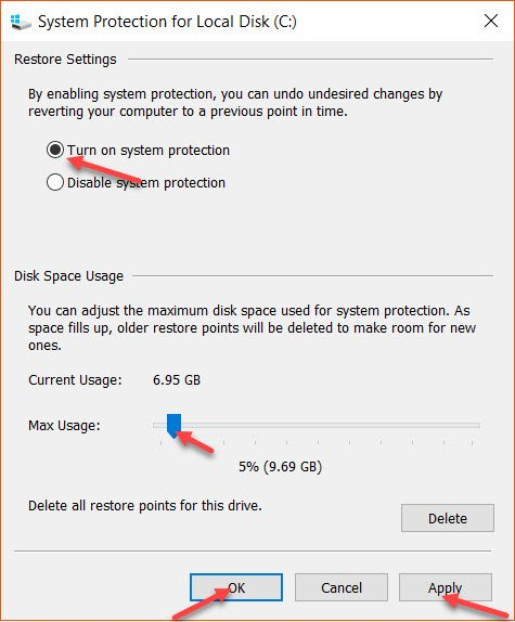 System Protection For Local Disk