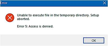 Unable To Execute Direcory in Temporary Folder