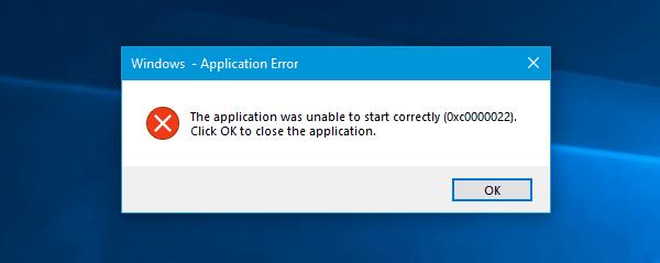 Windows Application Error