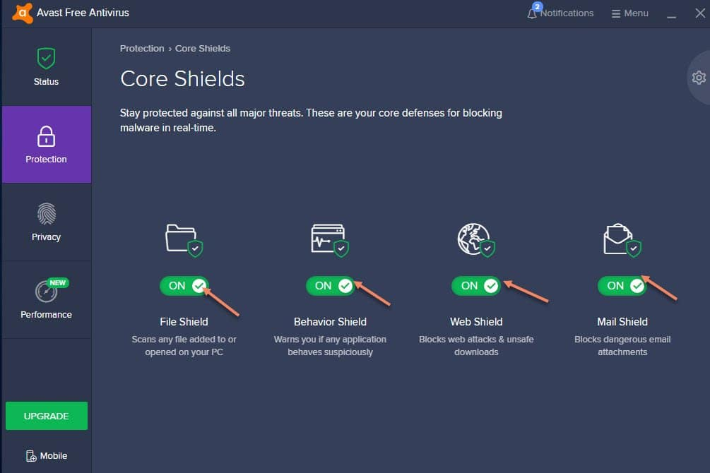 All Core Sheild Info