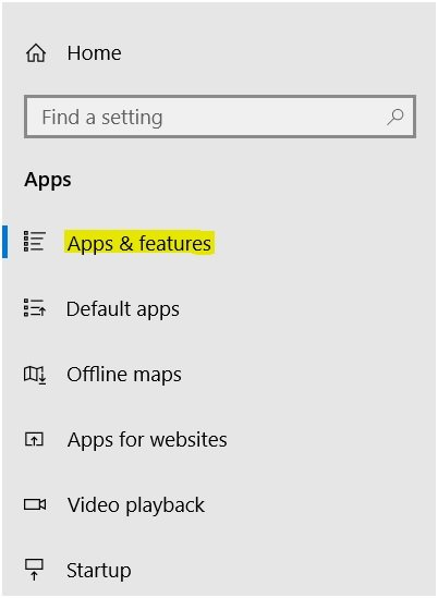Windows Apps And Features