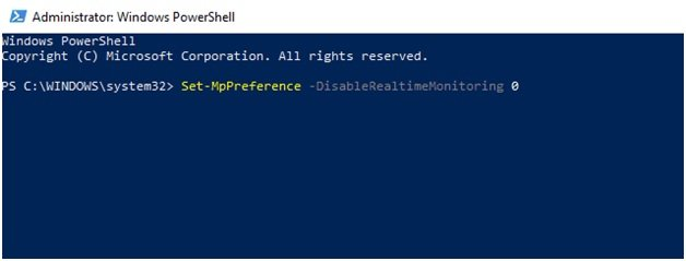 Administrator Windows Power Shell