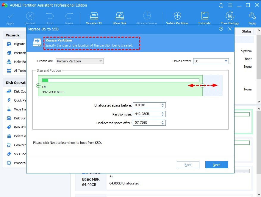 Partition Wizard Step 3