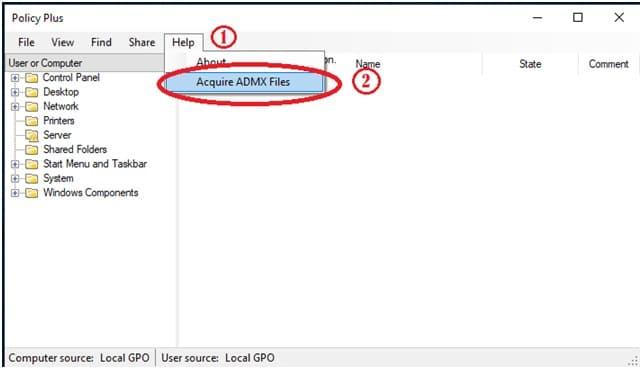 Acuire ADMX Files