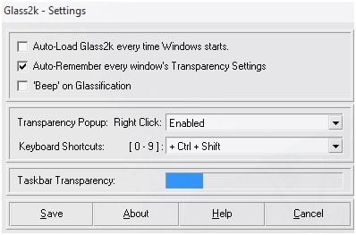 Glass 2k Settings