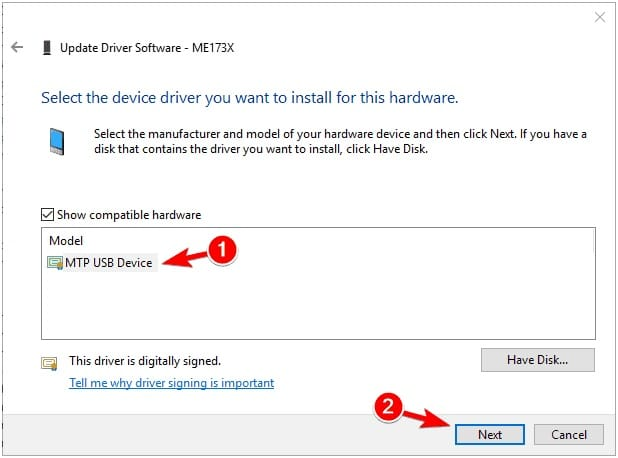 download mtp usb device driver windows 7