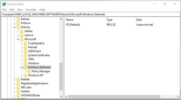 regedit_windows_defender