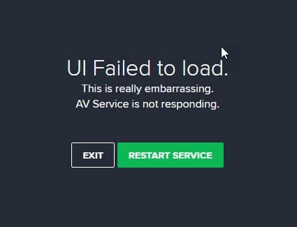 AVAST_UI_failed_to_load