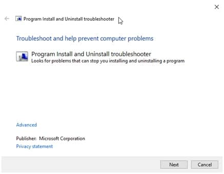 Install_Uninstall_troubleshooter