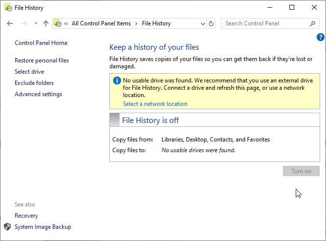 file_history_control_panel_turnon