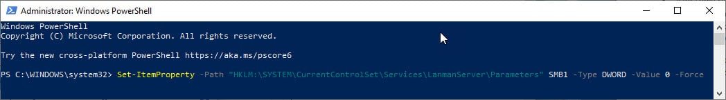 powershell_disable_smbv1