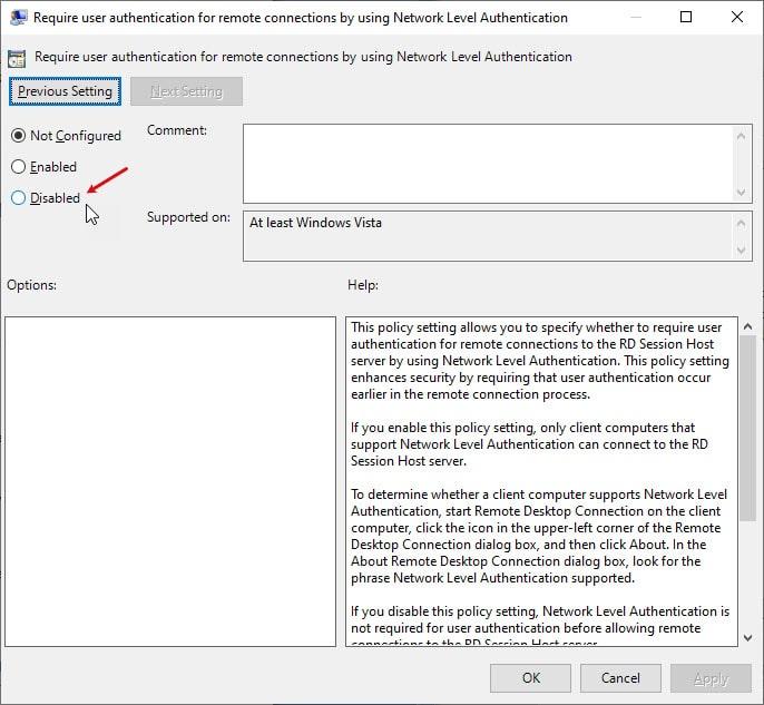 remove_nla_using_gpedit