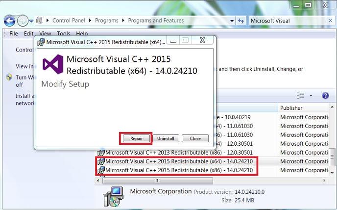 repair_visual_c++_redis