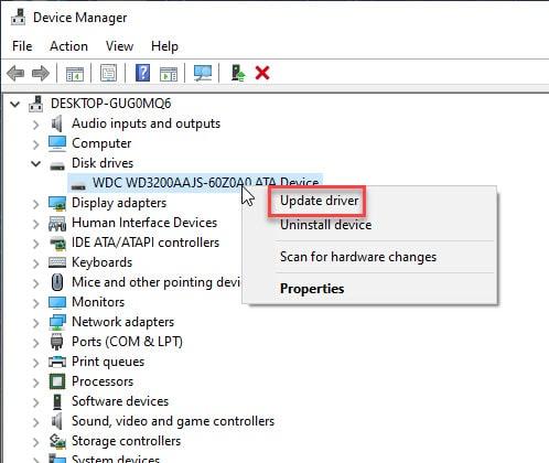 update_disk_drive_driver