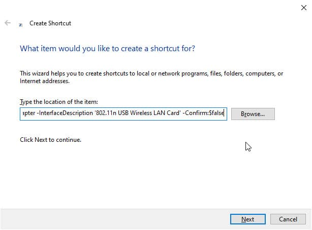 create_shortcut_location_internet_disconnects