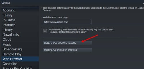 Steam_delete_browser_cache