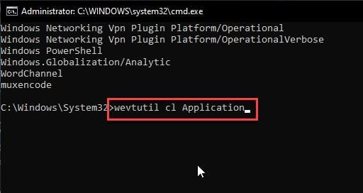 wevtutil_cl_application