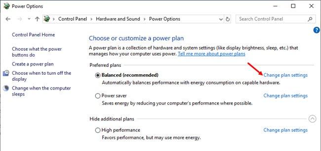 Balanced_change_power_settings