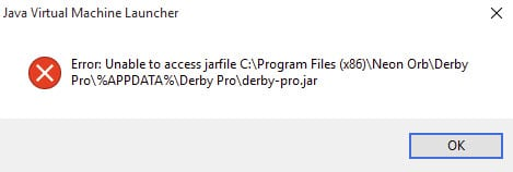 Error_unable_to_access_jarfile