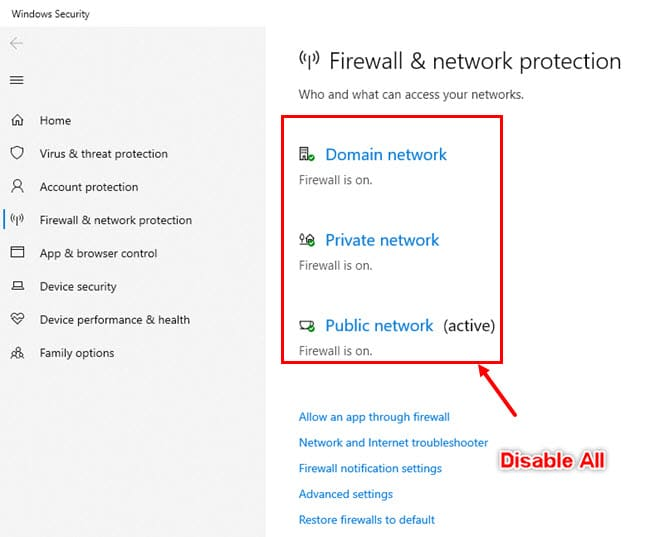Firewall-Disable