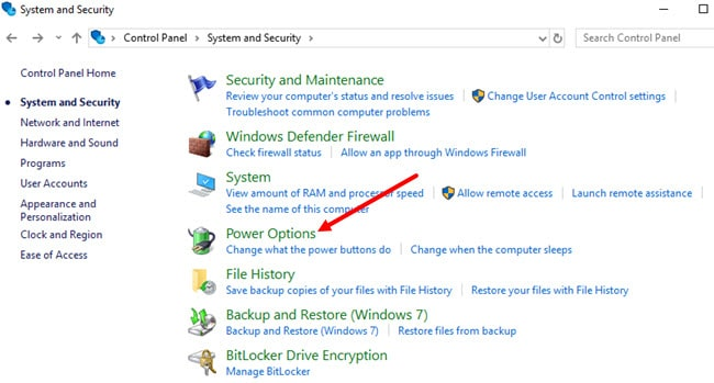 System_and_Security_Power_Option