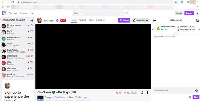 Twitch Schwarzer Bildschirm