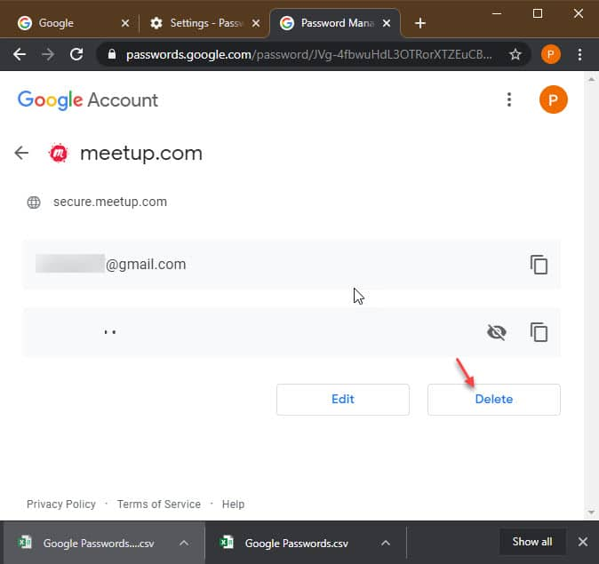 delete_saved_password_chrome