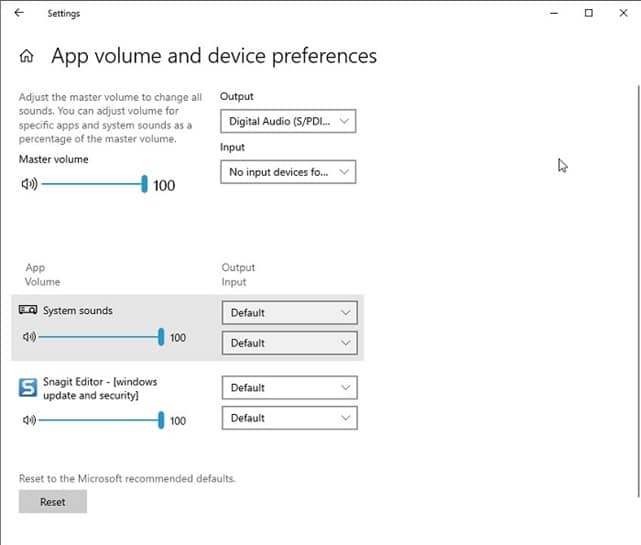 App Volume And Preference