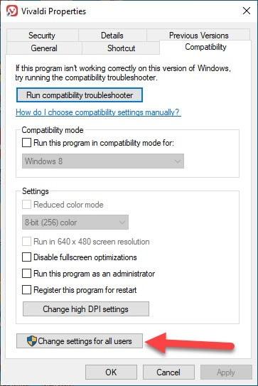 Change settings of Users