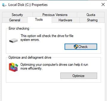Local Disk Properties