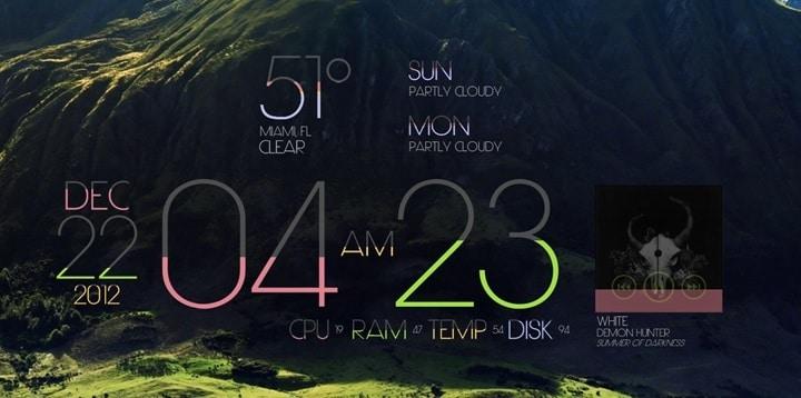 Limit_rainmeter_skin