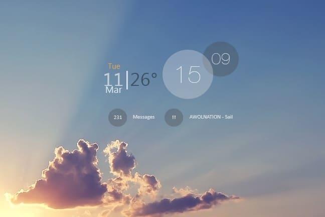 Memodijay_rainmeter_skin
