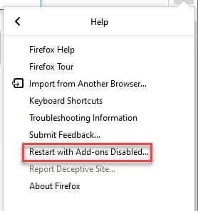 Restart_with addons_disabled