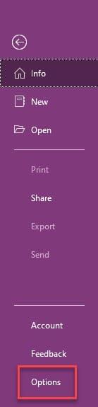 Onenote_info_options