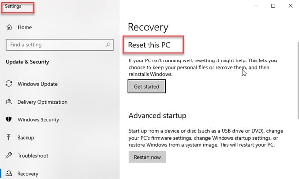 Recovery_settings